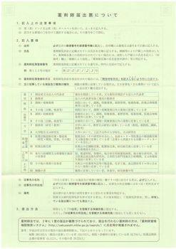 平成26年薬剤師届出