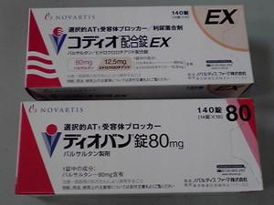 コディオ配合錠EXとディオバン錠80mg