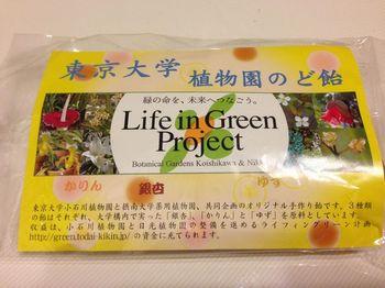 東京大学植物園のど飴